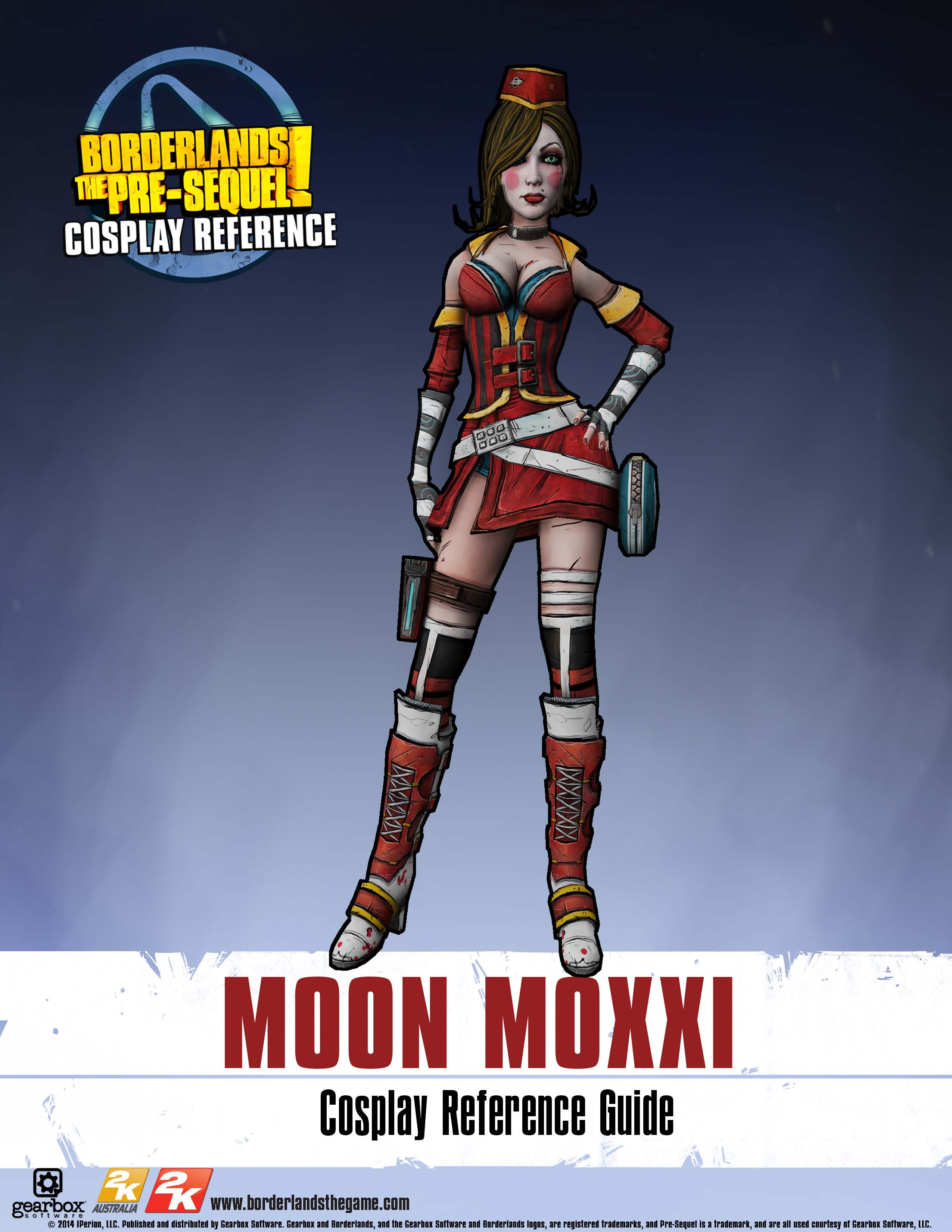 Borderlands the pre sequel moon moxxi cosplay reference guide