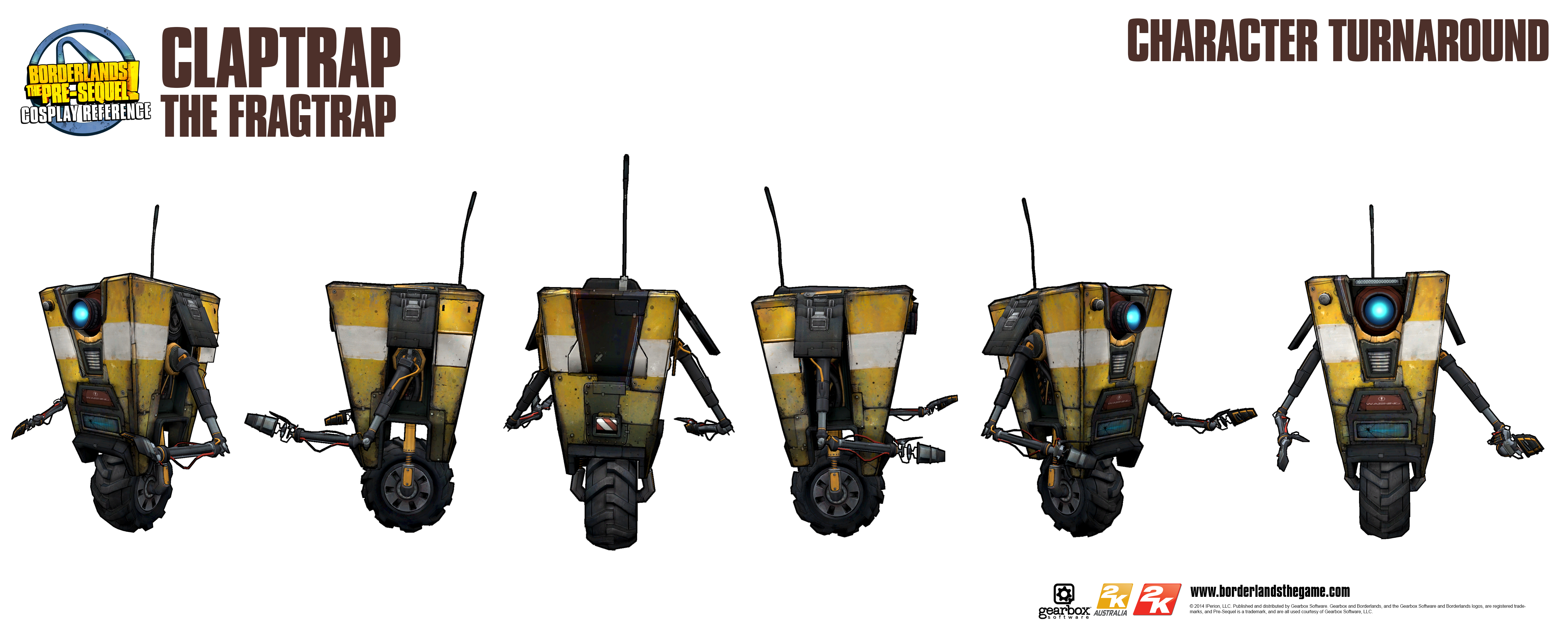 Borderlands the pre sequel claptrap cosplay reference guide