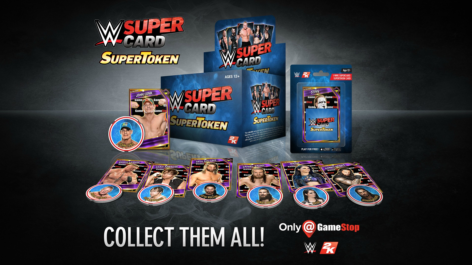 WWE SuperCard: SuperTokens are now available in GameStop stores throughout the U.S.
